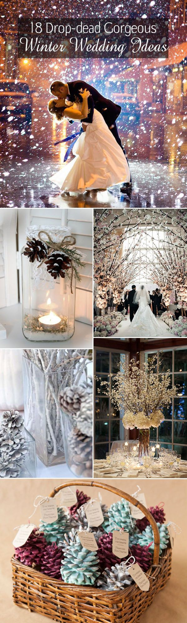 top 18 winter wedding ideas for your big day-- Winter wedding ideas