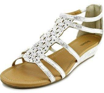 Style&Co. Style & Co Blayze Women Open Toe Synthetic Silver Wedge Sandal.