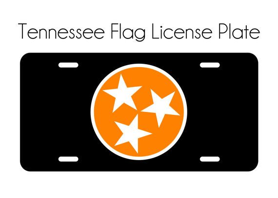 Personalize your cars front license plate this Tennessee state flag! These brand new aluminum license plates make awesome gifts or a little something