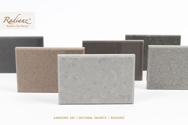 SAMSUNG SDI | Radianz - kitchen countertop, interior material, natural quartz