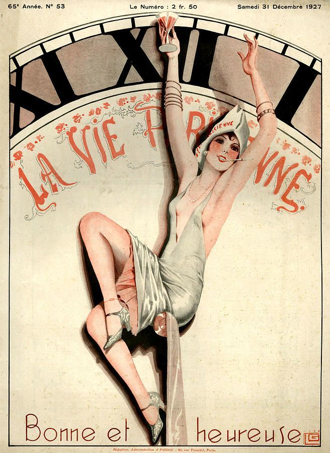 lllustration by Georges Leonnec For La Vie Parisienne December 1927