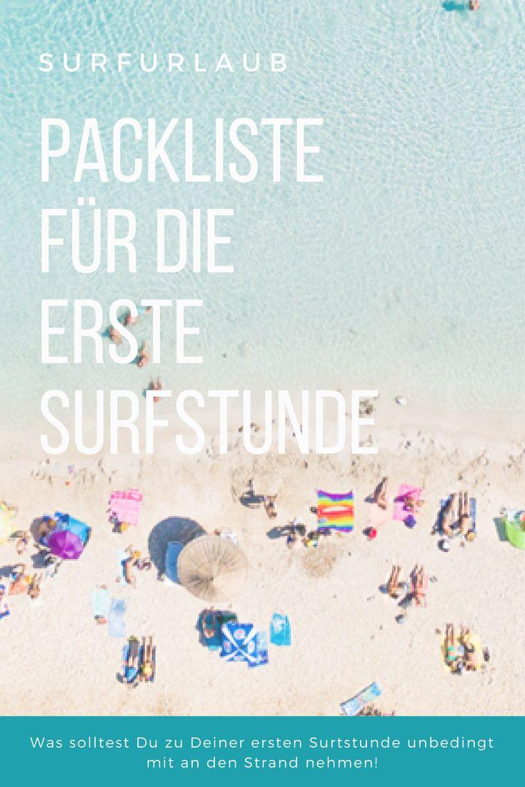 Was muss ich alles für die Surfstunde mit an den Strand nehmen? Was sollte nicht fehlen? Die Packliste für den Surfunterricht listet dir alles wichtige auf!