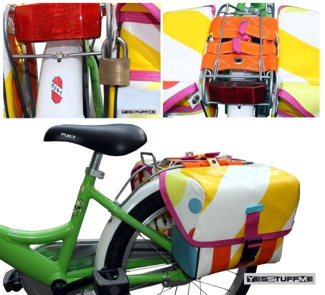 Fahrradtasche für Kinder, 16 Zoll, Packtaschen von YESSTUFFME auf DaWanda.com
