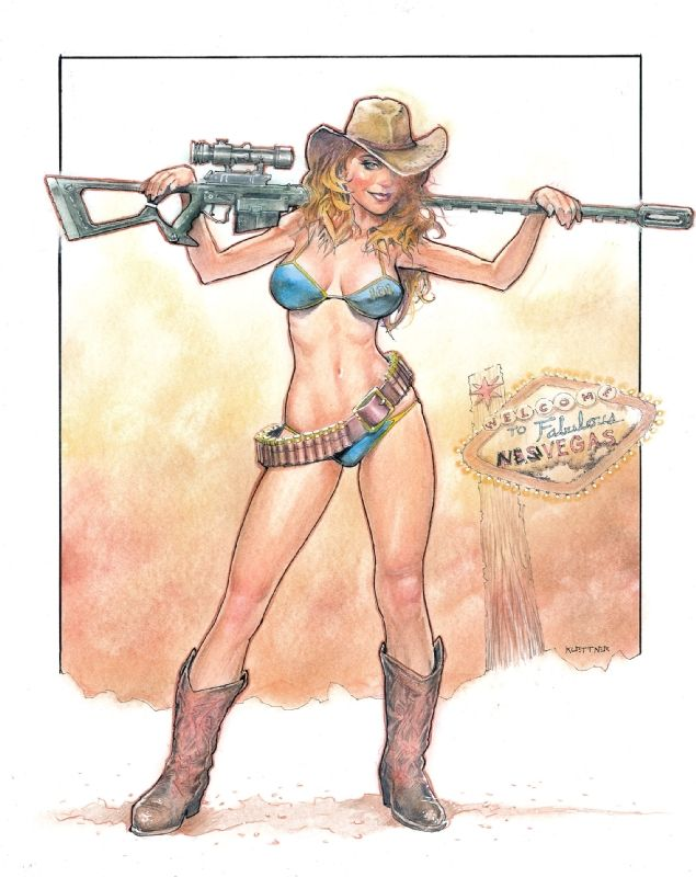 Sexy Fallout Cowgirl Comic Art