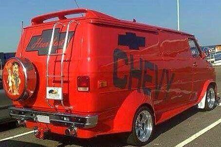 Custom 70's Chevy van