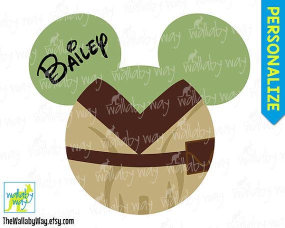 Yoda Mickey Ears Disney Star Wars Printable Iron On Transfer or Use as Clip Art - DIY Disney Shirt Mickey Head Star Wars Weekend Marathon