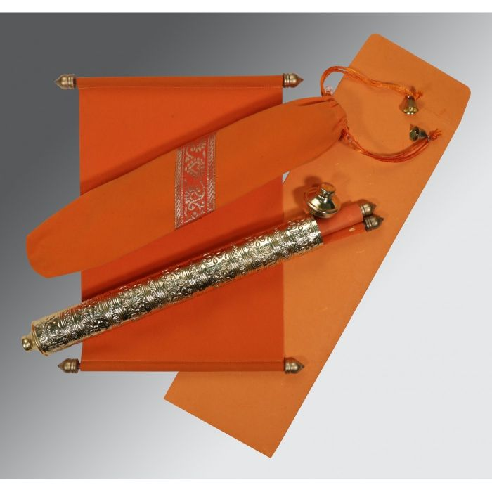 indian wedding hindu invitations%0A Orange velvet wedding invitations   asc    g