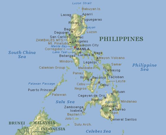 map of philippines with cities - Google Search