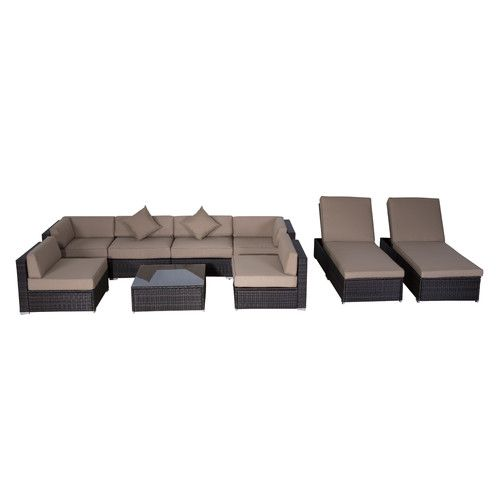 Found it at Wayfair.ca - Outsunny 9 Piece Seating Group with Cushions