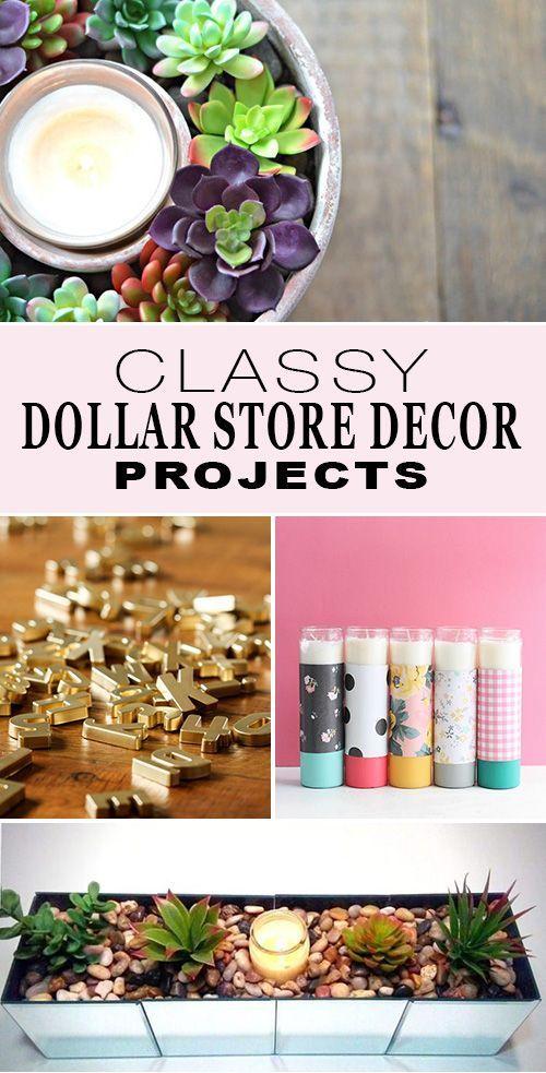 Classy Dollar Store Decor Projects
