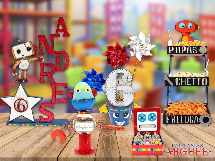 Haz que tu peque tenga el mejor de sus cumplaños con estas y más ideas de robots que tenemos para ti !!