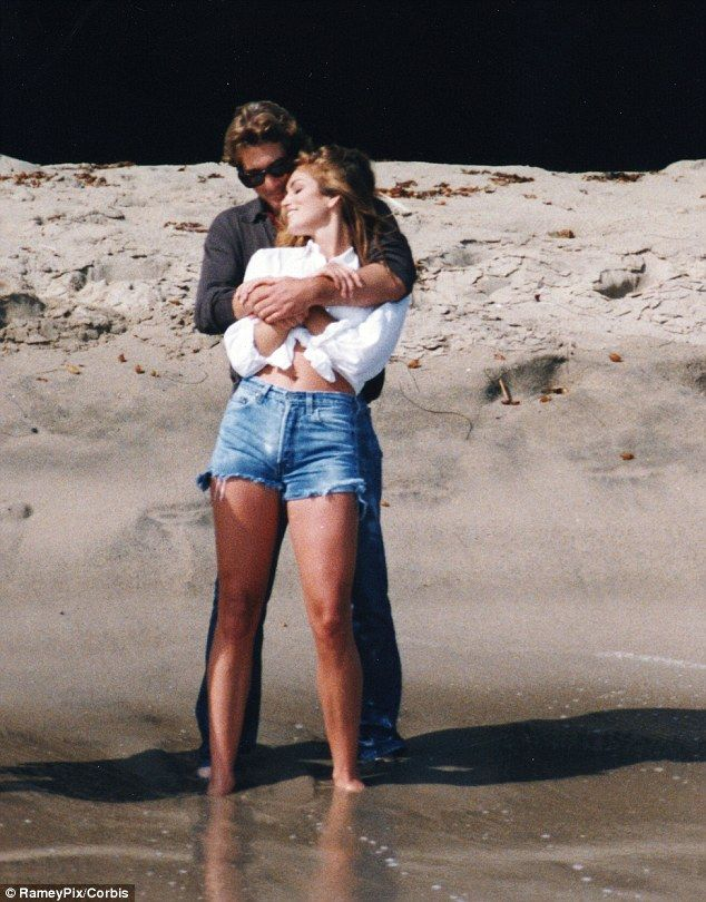 Cindy and Richard Gere romp on the beach in 1992. They got married in a quickie Vegas ceremony