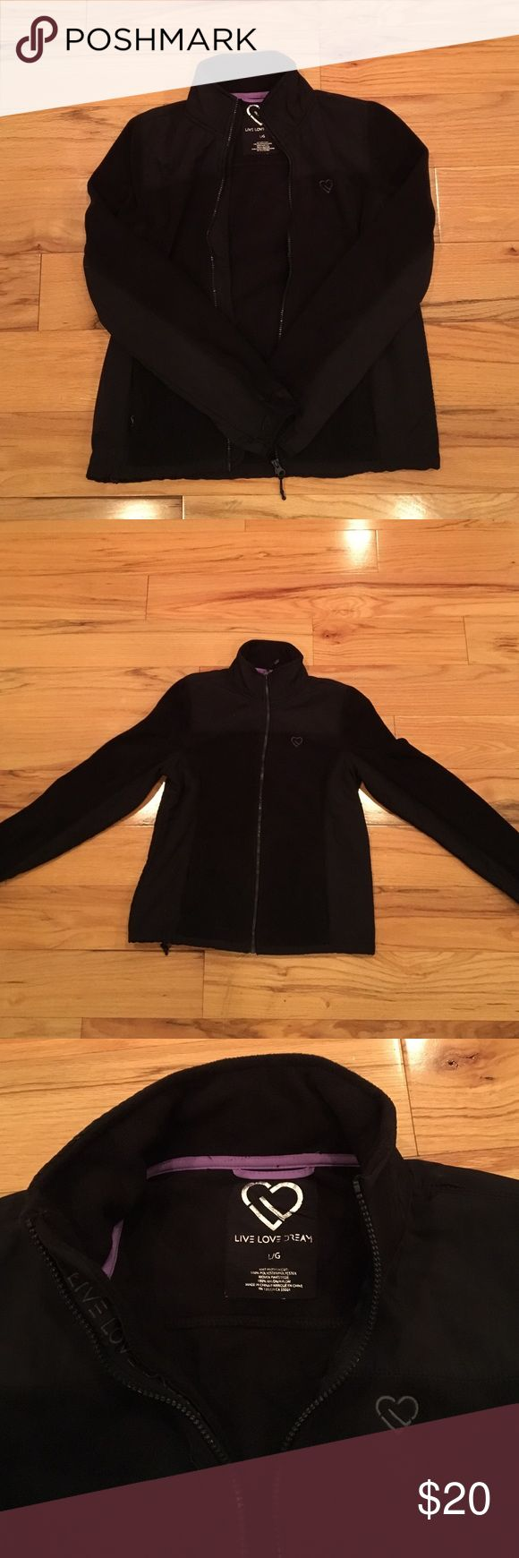 Aeropastale black zip up Cozy fleece zip up. Great for the fall or chilly spring nights. Never worn. Tags removed. Aeropostale Tops Sweatshirts & Hoodies