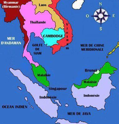 Carte Sud est asiatique