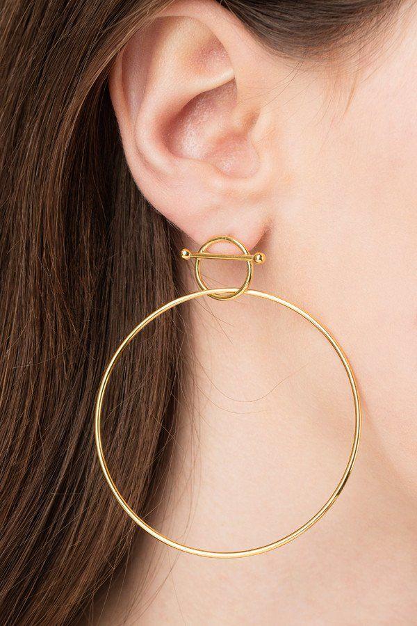 SWING EARRING - HIGH POLISHED GOLD - Maria Black