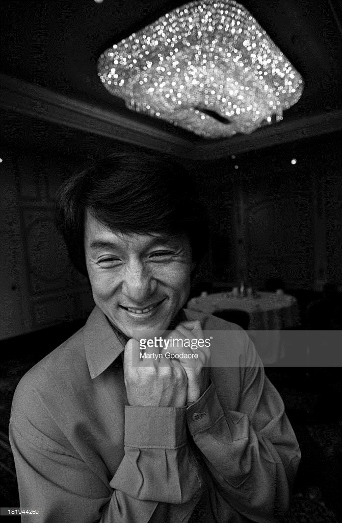 Portrait of actor Jackie Chan, London, 1997.