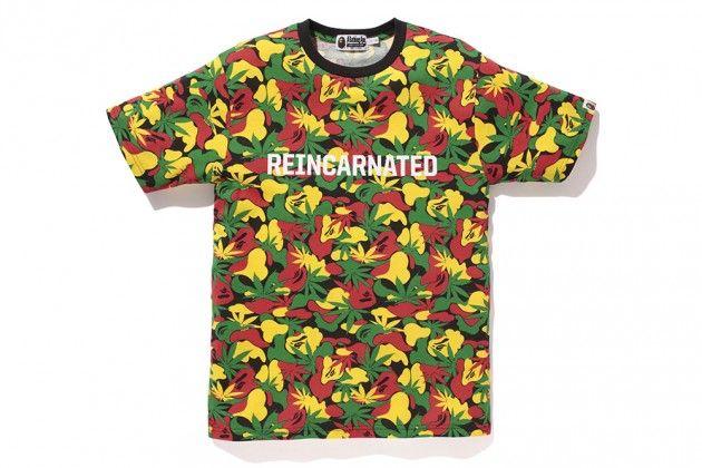 """Snoop Lion x BAPE """"Rasta Camo"""" T-Shirt"""