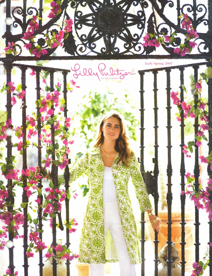 The cover of the Lilly Pulitzer Spring 2007 catalog featuring Lauren Bush