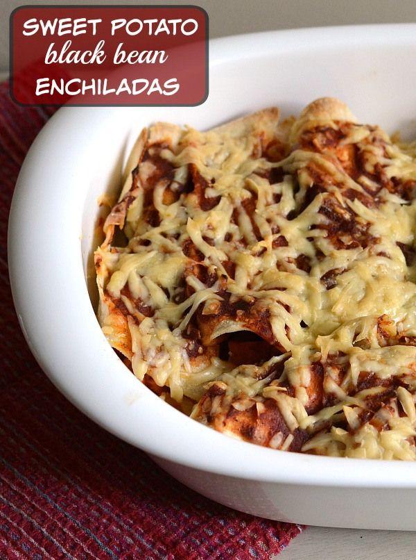 These sweet potato black bean enchiladas are the best easy dinner! Try ...