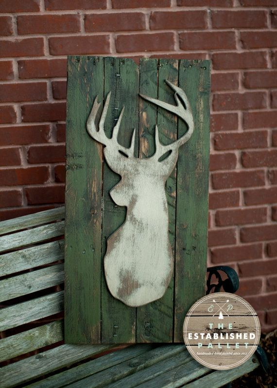 Deer Silhouette by TheEstablishedPallet on Etsy