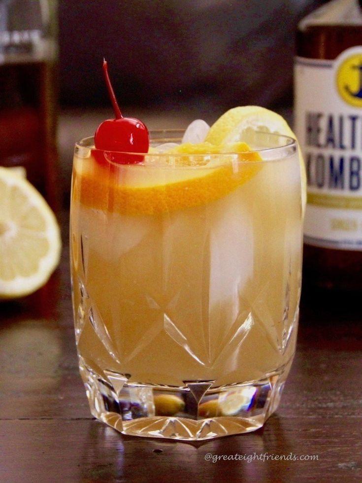Kombucha Whisky Sour Cocktail – Bourbon