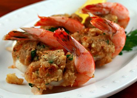 Ritz crackers, a Pantry Special (Recipe: baked stuffed shrimp)