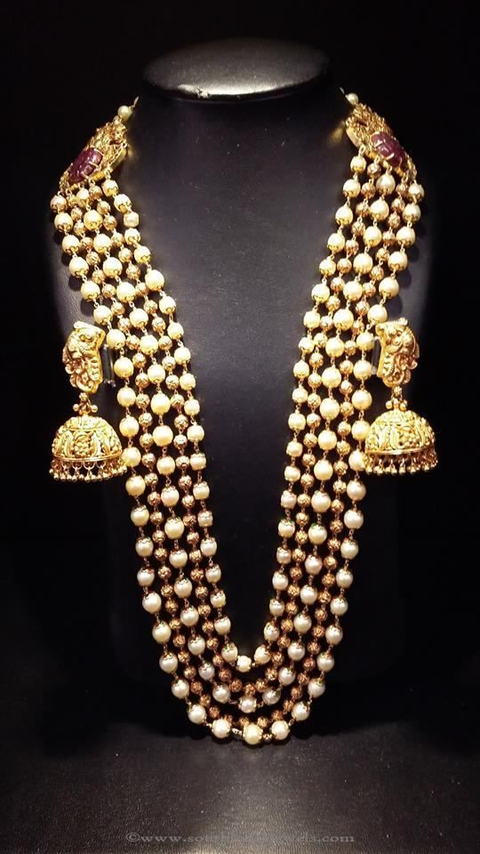 awesome Gold Pearl Long Haram Designs, Pearl Long Haram Designs, Antique Pearl Long…... by post_link