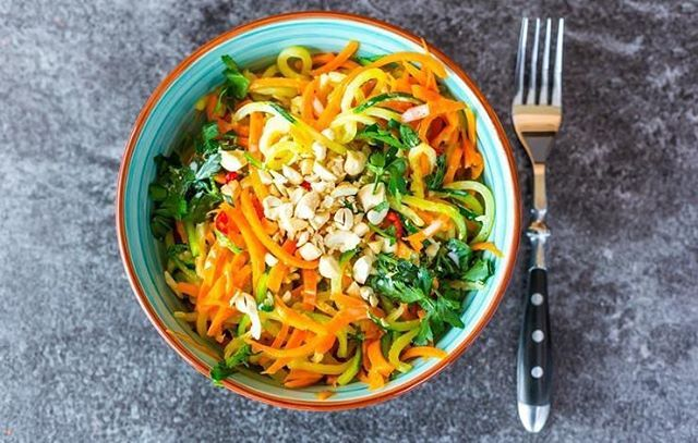 A flavorful bowl of zucchini noodles makes the day THAT much brighter (quite literally)just take it from author @martharoseshulman who swears by zoodles not just as a pasta alternative but as a salad base too. For more tips and tricks on how to elevate your own zoodles check our link in our bio!  Photo credit to @gettyimages #foodporn #zucchininoodles  via WOMEN'S HEALTH MAGAZINE OFFICIAL INSTAGRAM - Celebrity  Fashion  Health  Advertising  Culture  Beauty  Editorial Photography  Magazine…