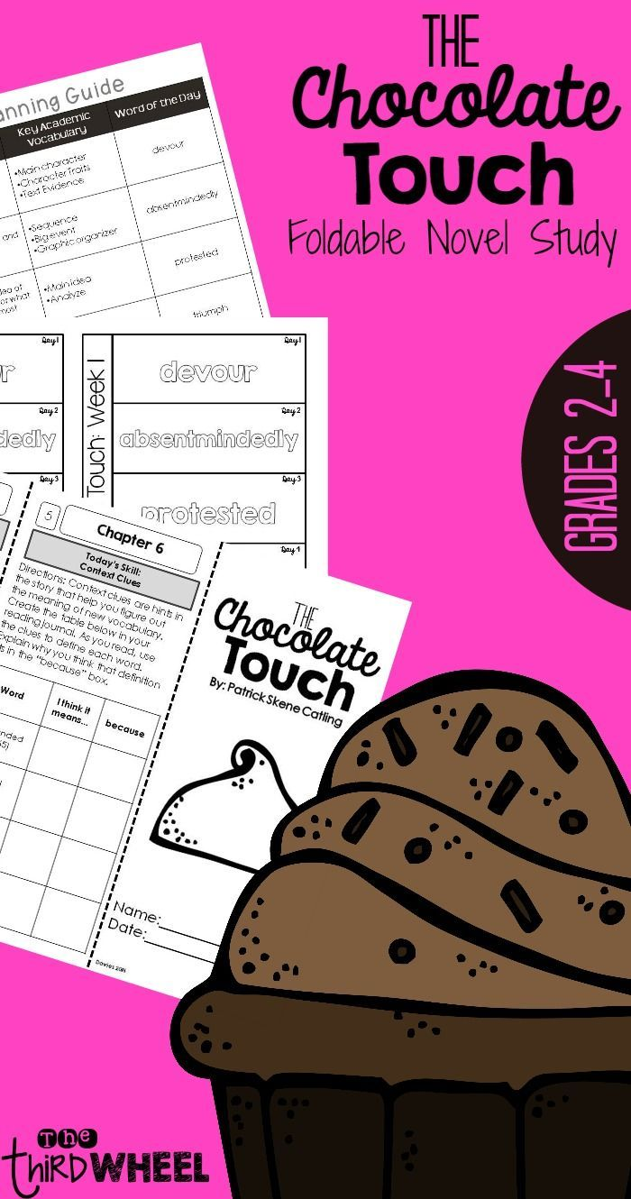 Teach Critical Reading Andprehension With The Novel The Chocolate  Touch This Foldable Saves Paper