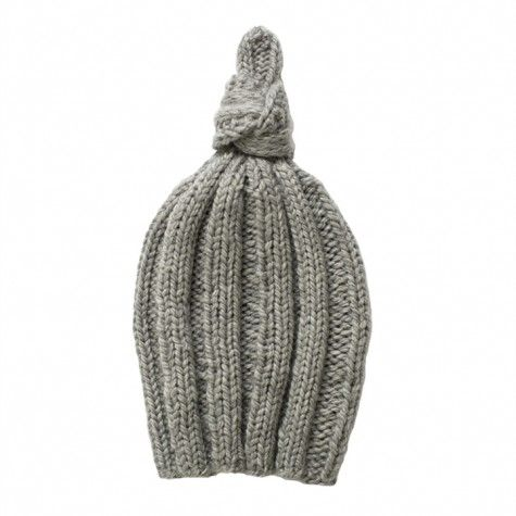 baby knot hat (heather grey)  50d1a69923e