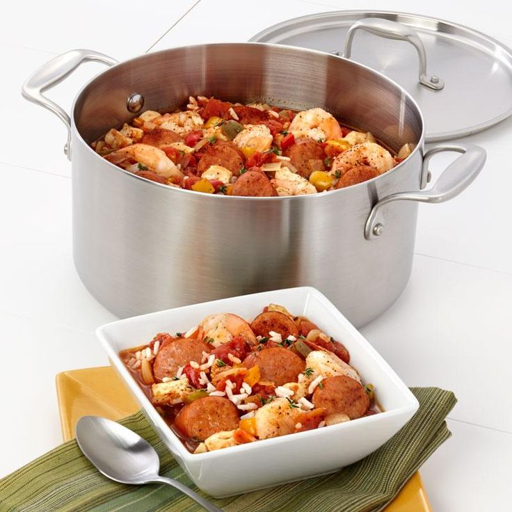 Creole-Inspired Jambalaya Recipe from our friends at American Kitchen. Try a little taste of New Orleans with this Jambalaya. Find it on the Recipes & Tips tab. #jambalaya #recipes