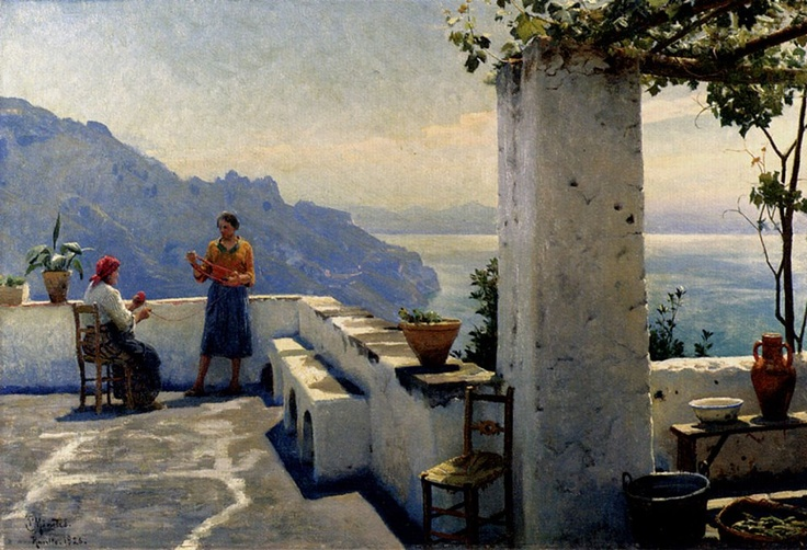 "Peter Mork Monsted) (1859-12-10 — 1941-06-20) ""Ravello"""
