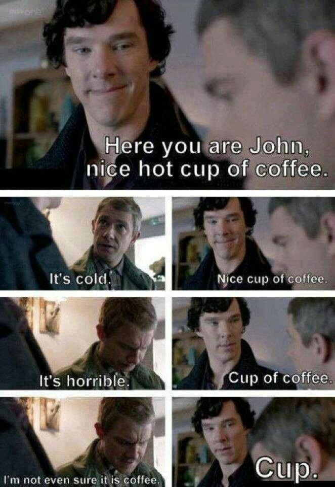 Sherlock pretending to apologize, turns his only friend into an experiment. They are still best friends. Brilliant.