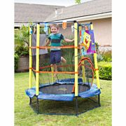 55 inch Kids Airzone SpongeBob SquarePants Trampoline with Safety Enclosure with Foam Spring Cover - $76