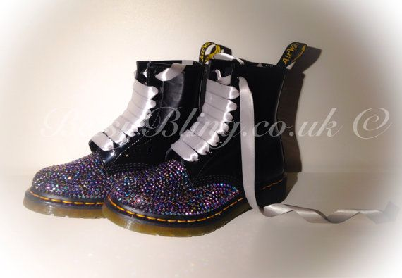 Crystal Dr Martens Custom bling Dr Martens Free UK by BetsyBlingUk