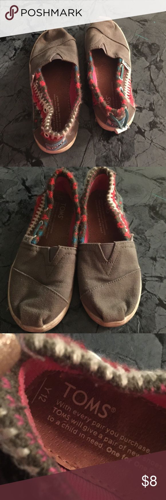 Kids toms Gently used condition one of the tassel are missing as seen in picture TOMS Shoes Sneakers