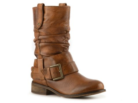 I think taller ankle slouchy motorcycle boots will be big this fall.  Just ordered these boots (in black leather) from DSW. Discovered I had a $10 off coupon which made them $105.95 w/tax.  Steve Madden Women's Crafti Boot