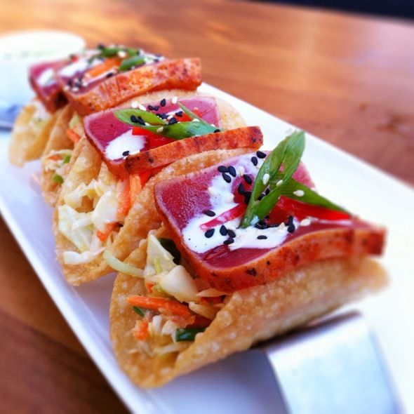 25 best fish tacos images on pinterest cooking recipes for Ahi tuna fish