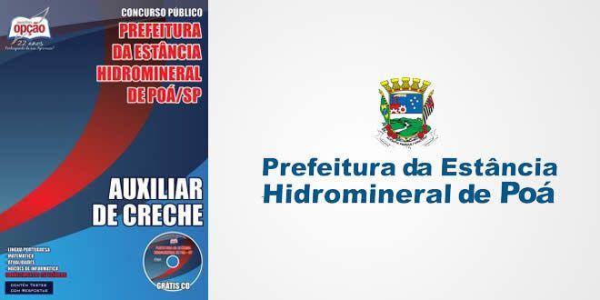Nova -  Apostila Auxiliar de Creche - Prefeitura de Poá-SP  #apostilas
