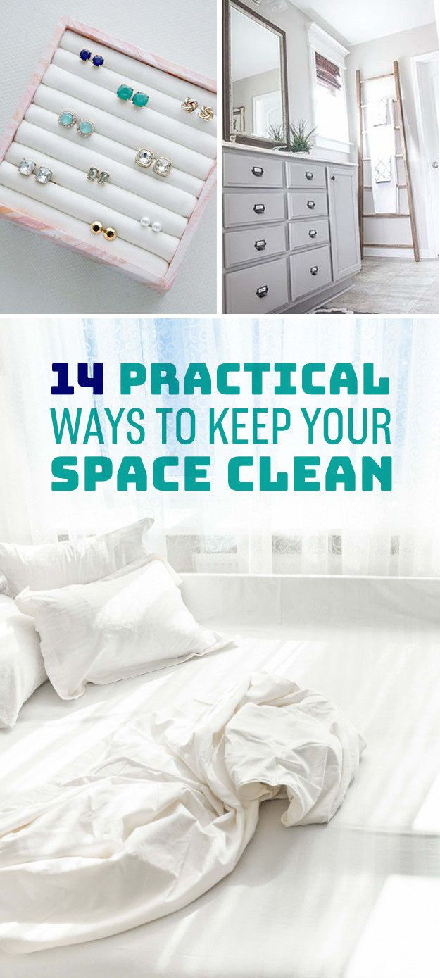 It's not rocket science, but a clean house really does reflect that you have your life together. Try making your bed every day before you head out, vacuuming and dusting once a week (that includes dusting baseboards), washing your dishes after every meal, and investing in some organizational tools to keep everything in its place. Get all the tips here and find all the cleaning supplies you'll need here.
