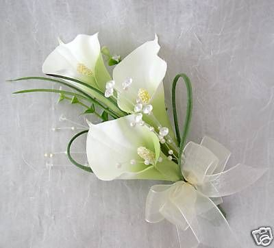 corsages for weddings calla lilies | LADIES CALA LILY CORSAGE, WEDDING FLOWERS, BOUQUETS - 200592026429
