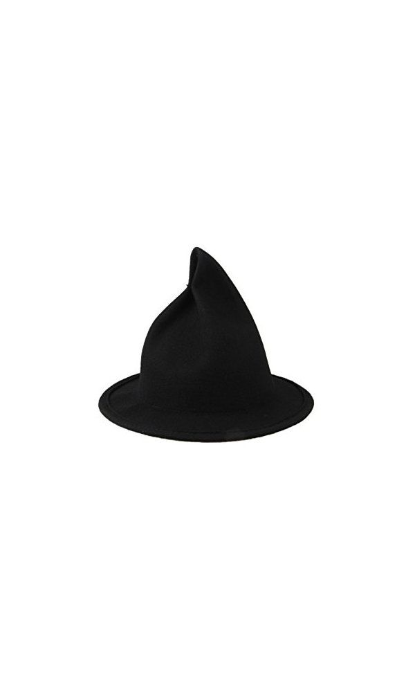 c8c4b041288 Dantiya Women s Wool Felt Candy Colored Sharp Pointed Witch Hat Deal Price    16.99 Buy From
