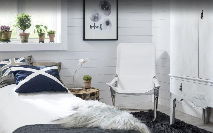 Måla din väggpanel i sovrummet! -Caparol