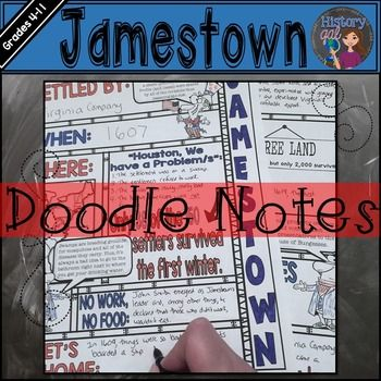 These Jamestown doodle notes engage students while encouraging them to use both hemispheres of their brains for better retention and, of course, for more fun.