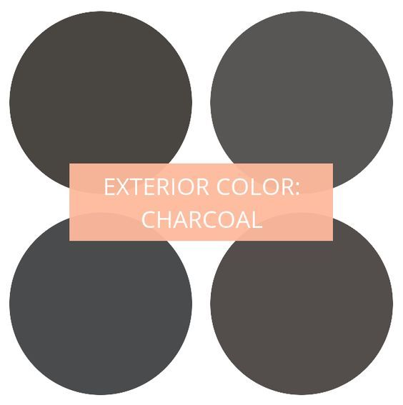 Exterior Paint Color Charcoal Colors Clockwise From Top Left 1 Sealskin B With Images Exterior Paint Colors For House Exterior Gray Paint Exterior Paint Color