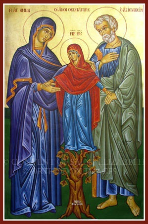 A is for St. Anna, Mother of Mary, wife of St. Joachim