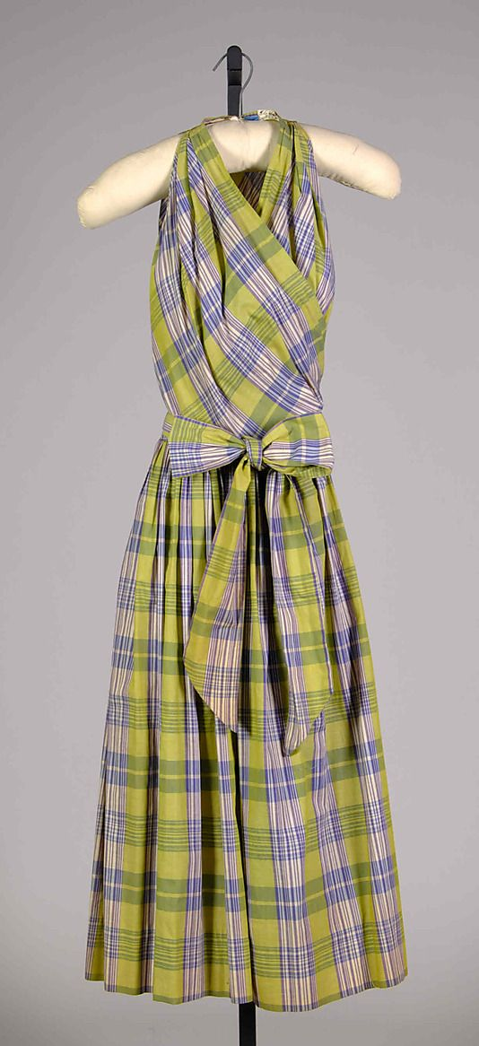 sundress; claire mccardell (1905-1958); manufactured by townley frocks; 1952; cotton
