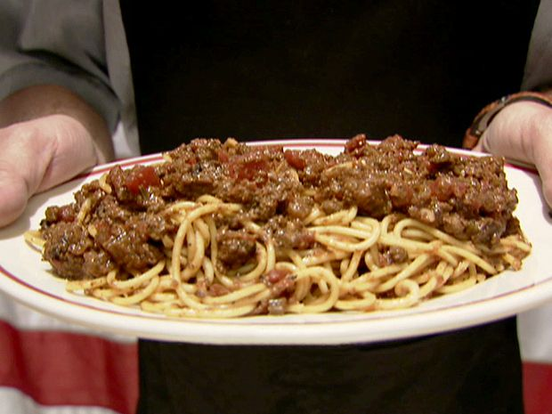 Meat Sauce and Spaghetti Recipe : Alton Brown : Food Network - FoodNetwork.com