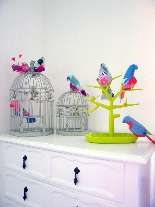 Softies: Birds, tree and cages