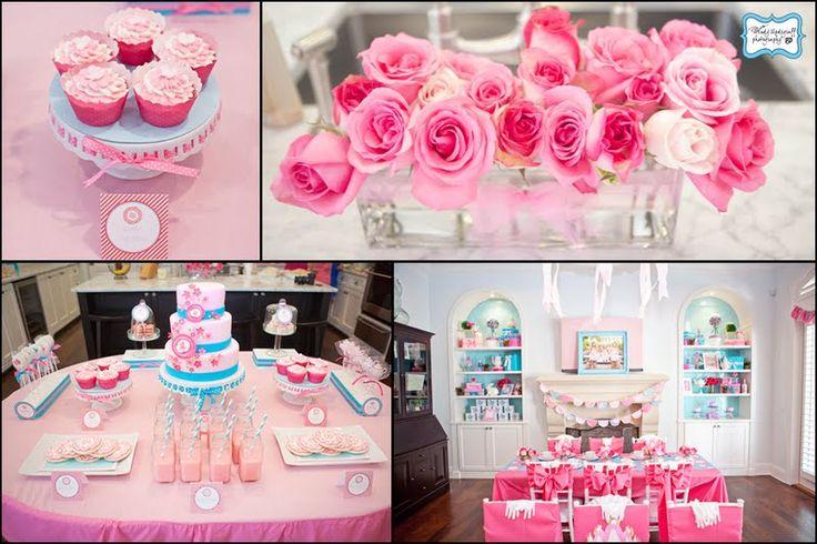 pink pink pink party: Birthday Parties, Bridal Shower Ideas, Parties Ideas, Pink Teas, Princesses Teas, Princesses Parties, Teas Parties, Girls Parties, Pink Parties